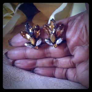 Vintage Regency Marquise-cut Cluster Earrings
